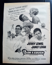 Three on a Couch (1966) - Jerry Lewis | Vintage Trade Ad